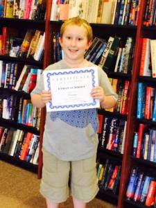 Ethan With Achievement Certificate