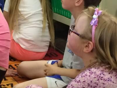 Alicia at Valerius Elementary reading